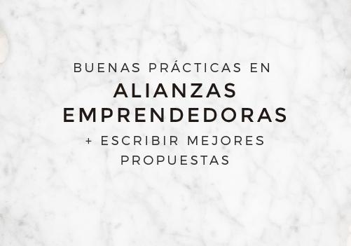 Taller online: BUENAS PRÁCTICAS EN ALIANZAS EMPRENDEDORAS