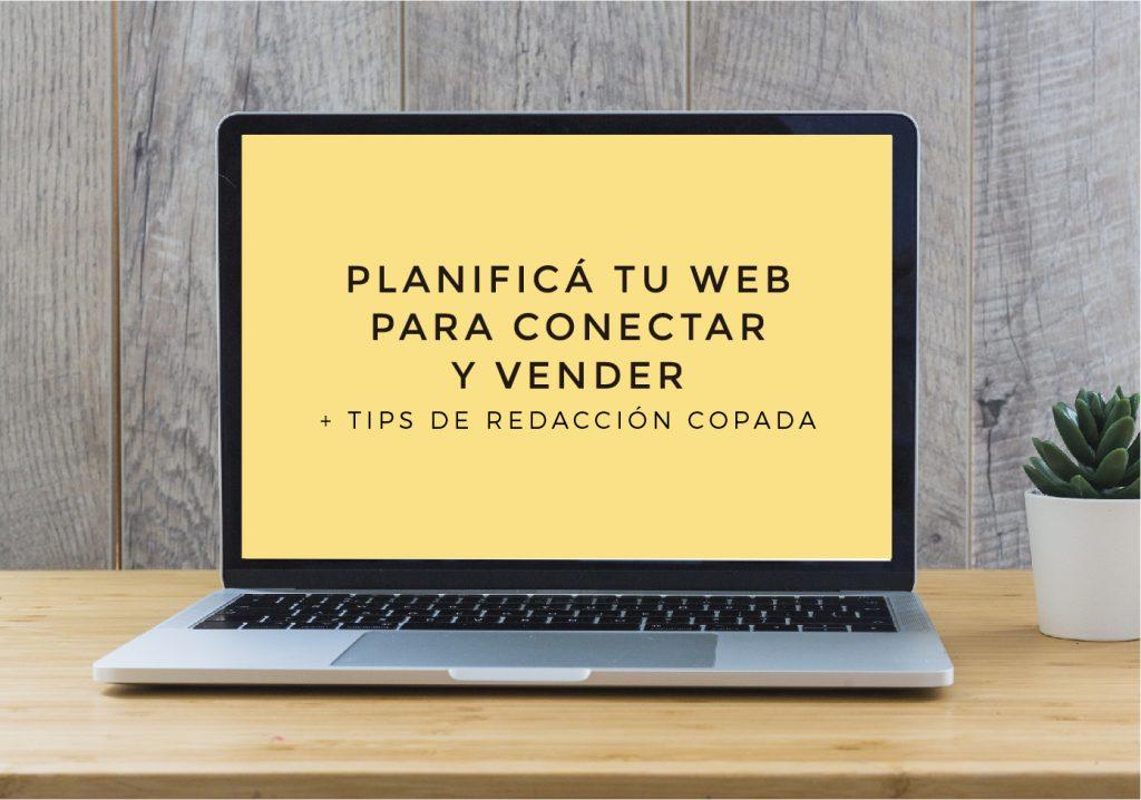 Planificá tu web para conectar y vender  - Taller online - LEER MÁS