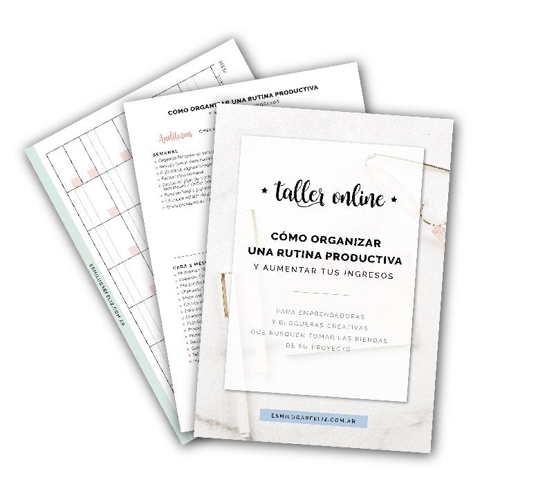 Cuadernillo - Cómo organizar una rutina productiva